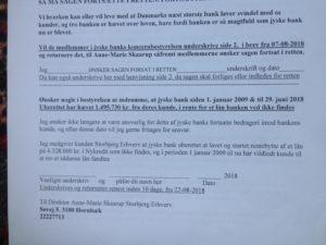 Brev 22-08-2018 ANSVAR til koncernledelsen jyskebank  JYSKEBANKS FUNDAMENT  DEN DANSKE BANK, JYSK EBANK UNDERSØGES FOR   § 279. For #bedrageri § 280. For #mandatsvig § 281. For #afpresning § 282. For #åger § 283. For #skyldnersvig  #Koncernbestyrelsen #JyskeBank Sven Buhrkall Kurt Bligaard Pedersen Rina Asmussen Philip Baruch Jens A. Borup Keld Norup Christina Lykke Munk Johnny Christensen Marianne Lillevang - #Koncerndirektionen #JyskeBank Anders Dam Niels Erik Jakobsen Per Skovhus Peter Schleidt #SvenBuhrækall  #KurtBligaardPedersen  #RinaAsmussen  #PhilipBaruch  #JensBorup  #KeldNorup  #ChristinaLykkeMunk  #JohnnyChristensen  #MarianneLillevang  #AndersDam  #NielsErikJakobsen  #PerSkovhus  #PeterSchleidt Advokat jyske bank #Morten Ulrik Gade  Philip Baruch Jyske Banks advokater fra juridisk afdeling Afdeling:Juridisk #PeterStigHansen  #Nykredit #MetteEgholmNielsen Siger de ikke vil leverer skyts mod #jysk #ebank   :-)  #Lån #Gratis #Tilbud #Rådgivning #ATP #Pension #Pol #Police #LES #LundElmerSandager #Advokat  Øvrige søge ord og kendte medvirkende   Lån super billigt, ingen gebyr rente  Subperlån, Superlån, supperlån.  Billån, boliglån. Opsparing. Pension. - Tivoli fripas Bakken fripas gratis  / Advokat advokater, strafferet ren straffe attest, øknomisk kriminalitet, kriminelt, straffeloven  - Lund Elmer Sandager  Al Capone, Adolf Hitler, Stalling  Michael Rasmussen CEO Nykredit  Anders Christian Dam CEO jyske bank  Advokat Morten Ulrik gade jyske bank  Philip Baruch jyske bank  Advokat Philip Baruch Lund Elmer Sandager  Advokat Mette Egholm Nielsen Nykredit  Inkasso Birgit Bush Thuesen jyske bank - Jyske bank erhverv Hillerød Helsingør Århus Aahus København Silkeborg Valby Østerbro  - Nicolai Hansen bankrådgiver jyskke bank Line Braad Winding jyske bank Casper Dam Olsen bankrådgiver jyske bank Anette Kirkeby bankrådgiver jyske bank Søren Woergaard rådgiver jyske bank CEO Anders Christian Dam - Danske bank jysk   Aktie anbefalinger på jyskebank AKTIEN SÆLG #ATP