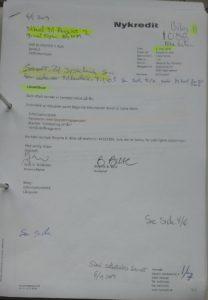 Modtaget nyt NK tilbud Rente 2,9457 % efter budget 2. Bilag 100. side 2 847. M2 11.