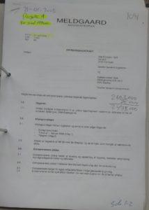 Entreprise kontrakt til tilbud 19-01-2008 Projekt 1. grund 1.599 m2 Annulleret hævet