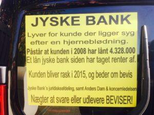 Kunde ønsker at jyske bank rette op, og stopper med at bedrage deres kunder. - DET SOM STÅR HER ER SANDT