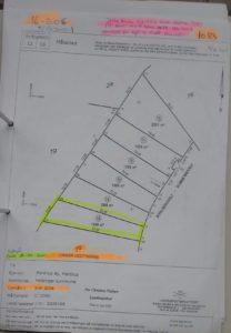 Udstyknings forslag af 1 Ar. til grunde af 1.599 m2 til Bygge projekt 1.