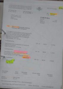 Faktura vedr. udstyknings forslag Bilag 1083 lavet 16-04-2007 for projekt 1.