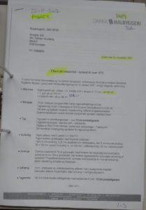 side 1 af 3 Tilbud på bygning vedr. grund 1.599 m2 projekt 1.
