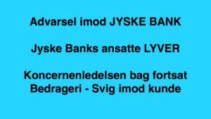 Lund Elmer Sandager har vildledt og skrevet usandt for retten. - I sag hvor kunde påstår, JYSKE BANK udsætter lille virksomhed for groft bedrageri, gennem 10 år. - Heraf har Anders Dam og Ledelsen mindst siden maj 2016, været bekendt med en mulig bedrageri sag, hvilket ledelsen nægter at gå i dialog med kunde for at opklare. - Anders Dam og koncern ledelsen har ingen kommentar til det af kunden fremsendte til Retten og jyske bank. Som 28-12-2017. 03-01-2018. Og til Koncernledelsen 07-08-2018. 22-08-2018. 19-09-2018. Du kan se alle breve på nettet. - Kunde opgiver KONTAKT TIL LEDELSEN PÅ LINKET HER. direktion@jyskebank.dk - Da jyske bank ikke vil svare kunde, men kun ønsker at svarer i byretten. - - Vi ønsker bare sandheden om jyske bank kommer frem. - Har vi et UNDERLÆGGENDE lån som jyske bank har fremlagt i ankenævnet, og byretten ELLER LYVER JYSKE BANK se bilag 35 og 36 i tidsligne - JYSKE BANK SYNTES AT VÆRE SKADELIG FOR DEN LILLE DANSKE FORBRUGER - Selv om mange forsøger at stoppe vores oplevelser blever fremlagt Har vi her en vel dokumenteret, forklaring på det vi skriver hvilket vi også fremlægger. - Dette er ikke en sag vi ønsker Problemet er vi er oppe imod en OND og LØGNAGTIG JYSK BANK. SOM BARE LEVER AF DETTE HER.