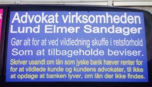 Bestyrelses medlemmet Philip Baruch partner i Lund Elmer Sandager advokater - Har i svarskrift løget så vandet løb, om at det fandtes et UNDERLÆGGENDE lån til påstået rente bytte. - Og har tilbageholdt oplysninger for at skuffe i retsforhold. - LES nægter at svare på noget, - og blokerede da også hurtigt jyske banks kunde på facesbook Således kritiske spørgsmål blev stoppet - Spørg selv advokaterne i Lund Elmer Sandager om det er ok at lyve processuelt for retten