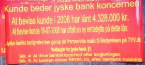 Link til 40 spørgmål - Sjovt nok nægter dem kriminelle jyske bank at svare. - Vi syntes ikke det er morsomt, 10 års bedrageri udført af jyske bank er længe.