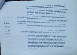 Tidslinie side 10.- 5 af 12. / 03-11-2018 - Bruges i jyske bank svindelsagen Under vidne afhøring og forklaring