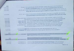 Tidslinie side 11.- 5 af 12. / 03-11-2018 - Bruges i jyske bank svindelsagen Under vidne afhøring og forklaring